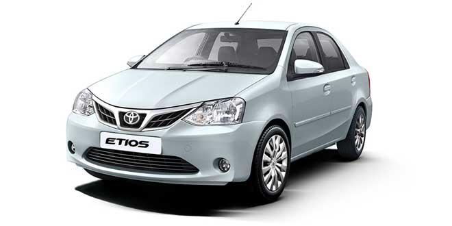 Toyota Etios Symphony Silver Color