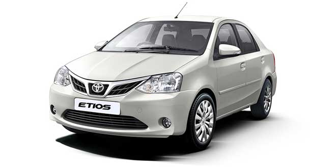Toyota Etios White Color (New Pearl White Color)