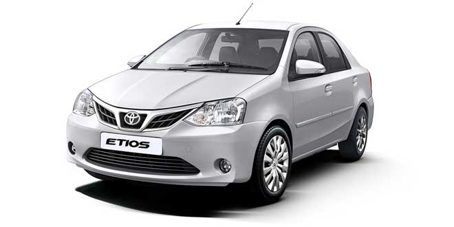 Toyota Etios White Color