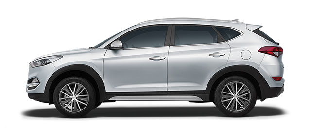 2016 Hyundai Tucson in Pure White Color