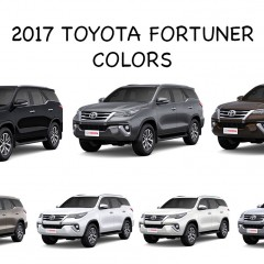 2017 New Toyota Fortuner Colors: Black, Bronze, Brown,Grey, Silver, White