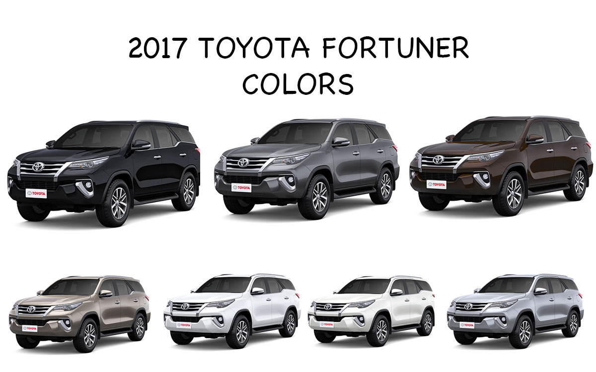 New 2017 Toyota Fortuner Colors