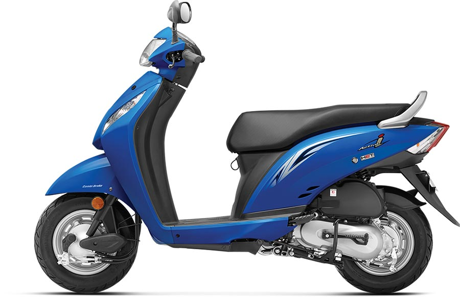 Honda Activa i Blue Color - Candy Jazzy Blue Color