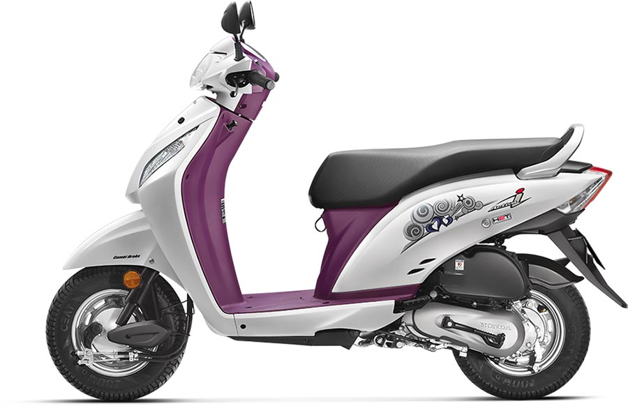 Honda Activa i White Color ( Deluxe) Activa i Pearl Amazing White Color