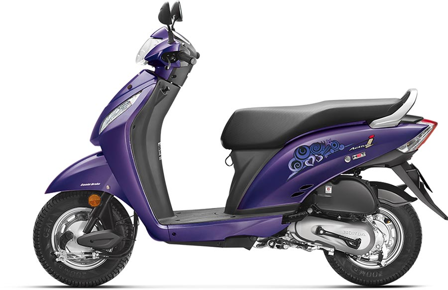 Honda Activa i Purple Color - Honda Activa i Orchid Purple Metallic Color Photo -