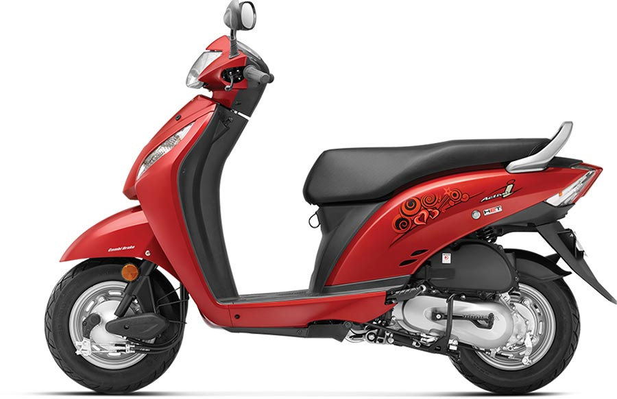 Honda Activa i Red Color Imperial Red Metallic Color