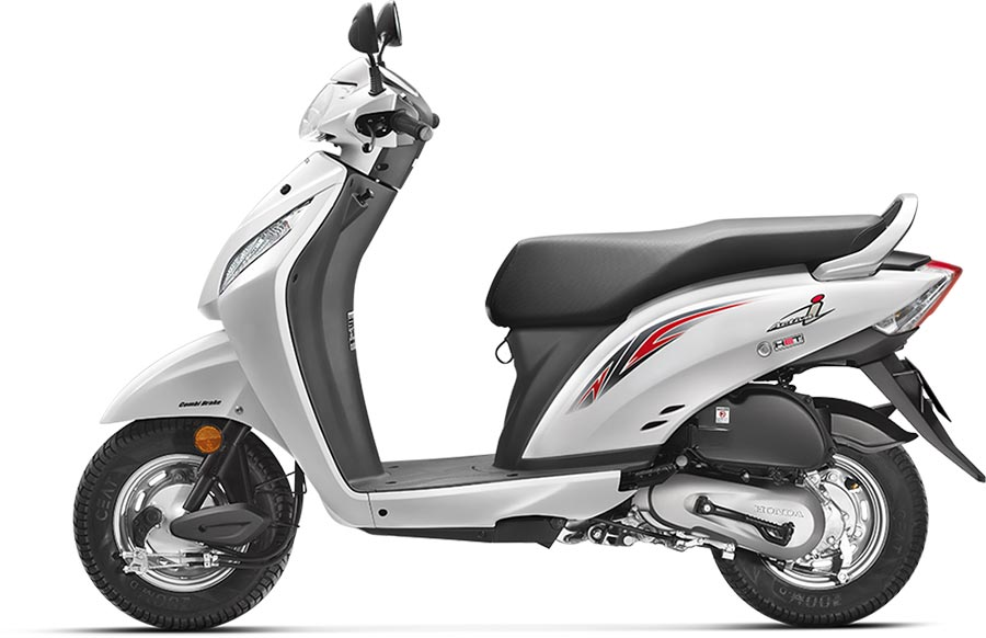 Honda Activa i White Color Pearl Amazing White Color