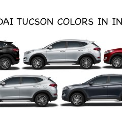Hyundai Tucson Colors in India: Stardust, Red, Silver, White, Black