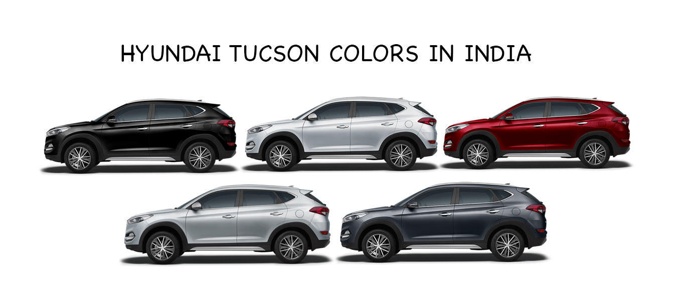 hyundai tucson colors in india stardust red silver white black
