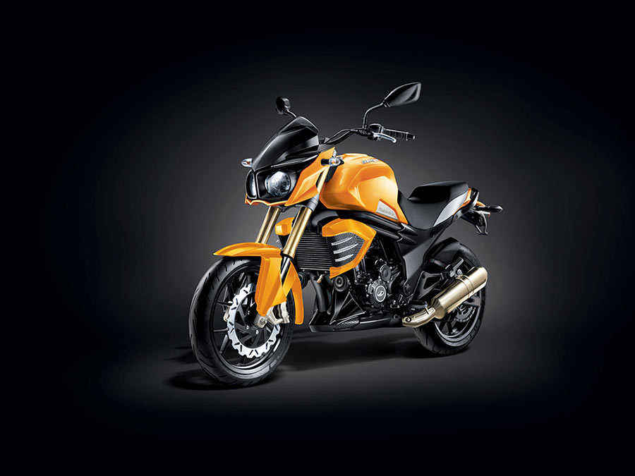 Mahindra Mojo Orange Color | Sunburst Yellow color