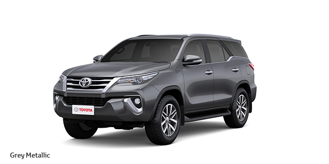 Grey Colors 2017 new toyota fortuner colors: black, bronze, brown,grey, silver