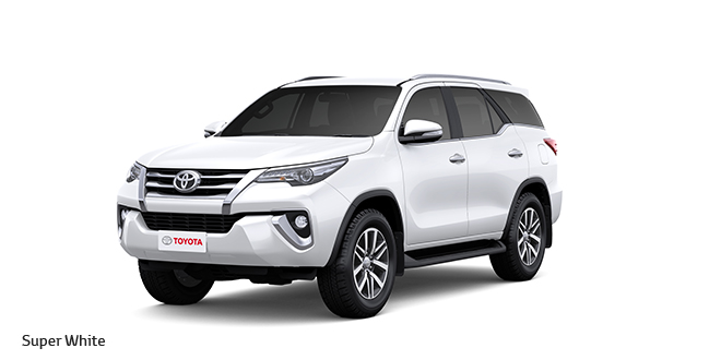 New Toyota Fortuner Super White Color