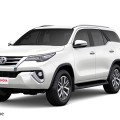 New Toyota Fortuner White Color - White Pearl Crystal Shine Color