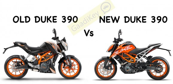 Old KTM Duke 390 vs New KTM Duke 390