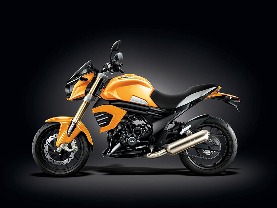 Mahindra Mojo Sunburst Yellow Matte Color