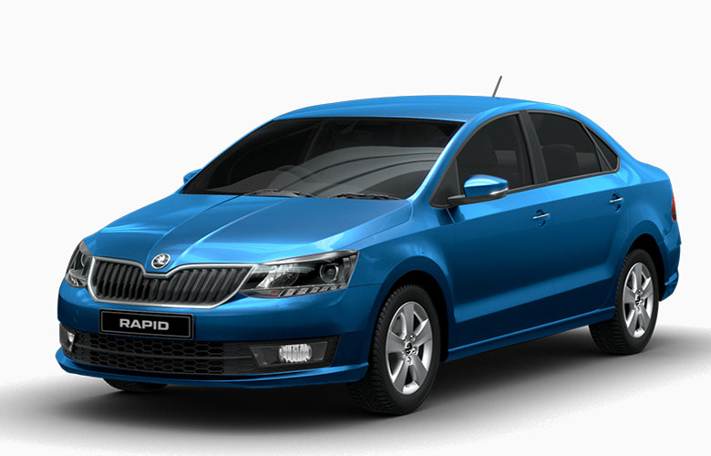 Photo of Skoda Rapid in Silk Blue Color