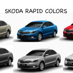 Skoda Rapid Colors: White, Beige, Blue, Red, Silver, Steel