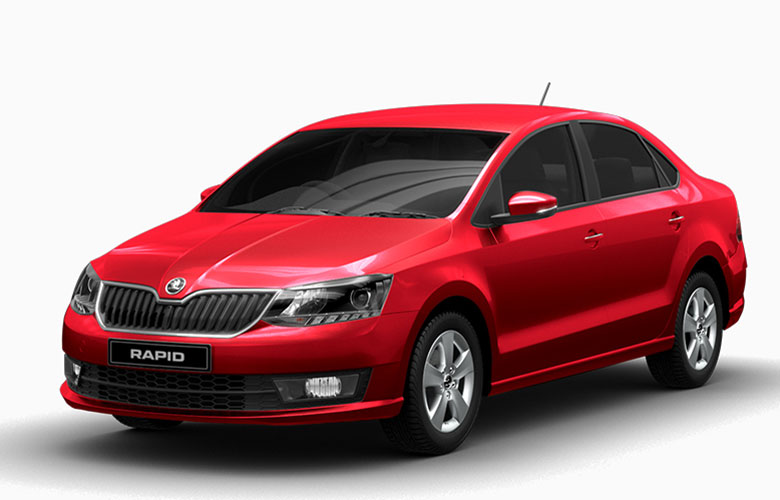 Skoda Rapid Flash Red Color Photo