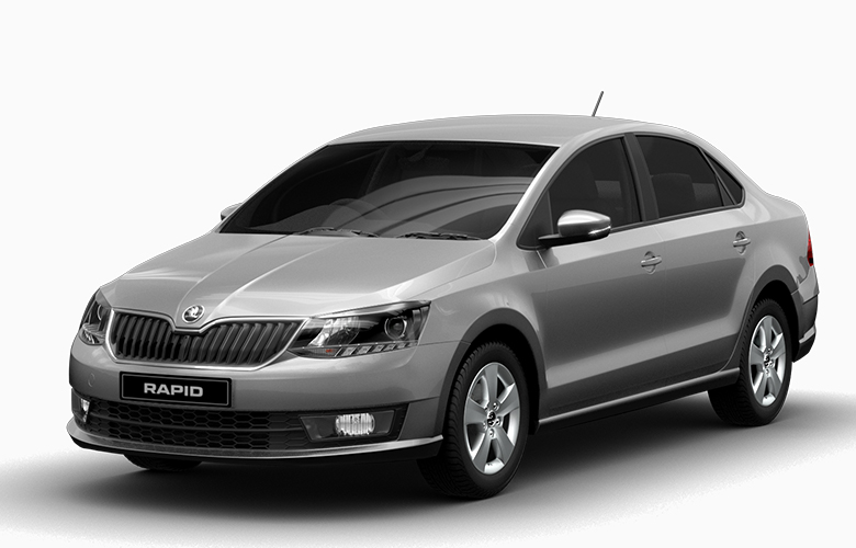 Skoda Rapid Brilliant Silver Color Silver