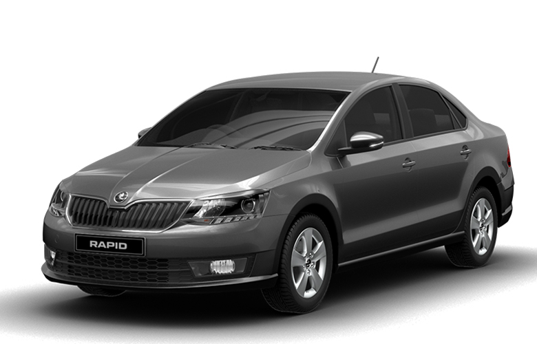 New Skoda Rapid Carbon Steel Color Variant