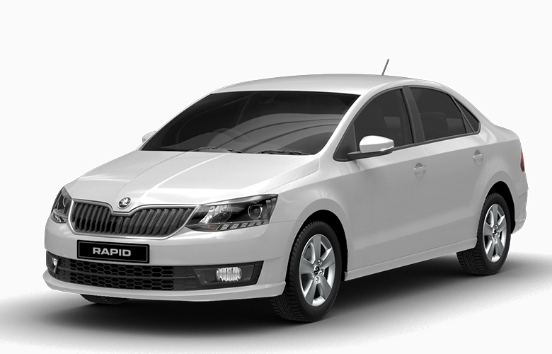 New Skoda Rapid Candy White Color