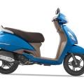 TVS Jupiter Blue Color - Matte Blue Color
