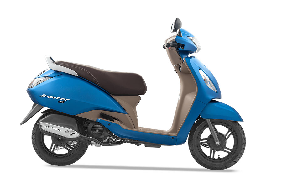 TVS Jupiter Blue Color - Matte Blue Color