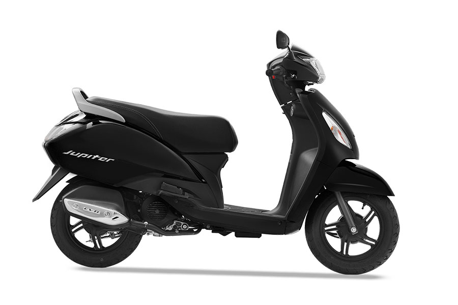 TVS Jupiter Black Color Midnight Black Color