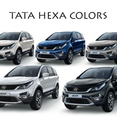 Tata Hexa Colors: Blue, Grey, White, Platinum Silver, Tungsten Silver