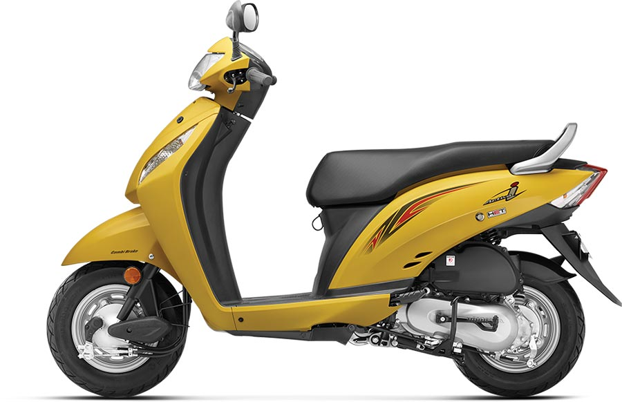 Honda Activa i Yellow Color - Pearl Trance Yellow Color