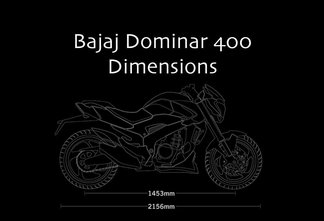 Bajaj Dominar 400 Dimensions