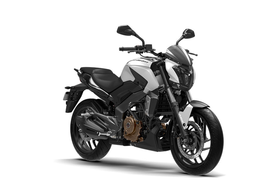 Bajaj Dominar Photos Moon White Color