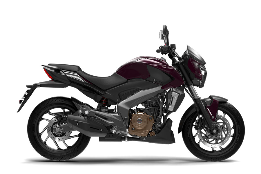 Bajaj Dominar Twilight Plum Color Photo