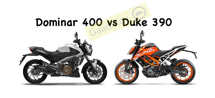 Bajaj Dominar 400 Vs Ktm Duke 390 Specs Comparison Gaadikey