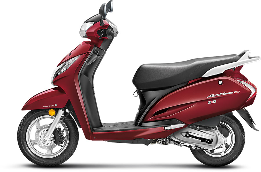 Honda Activa 125 Rebel Red Metallic Color