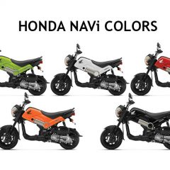 Honda NAVi Colors: Red, Black, Green, Orange, White