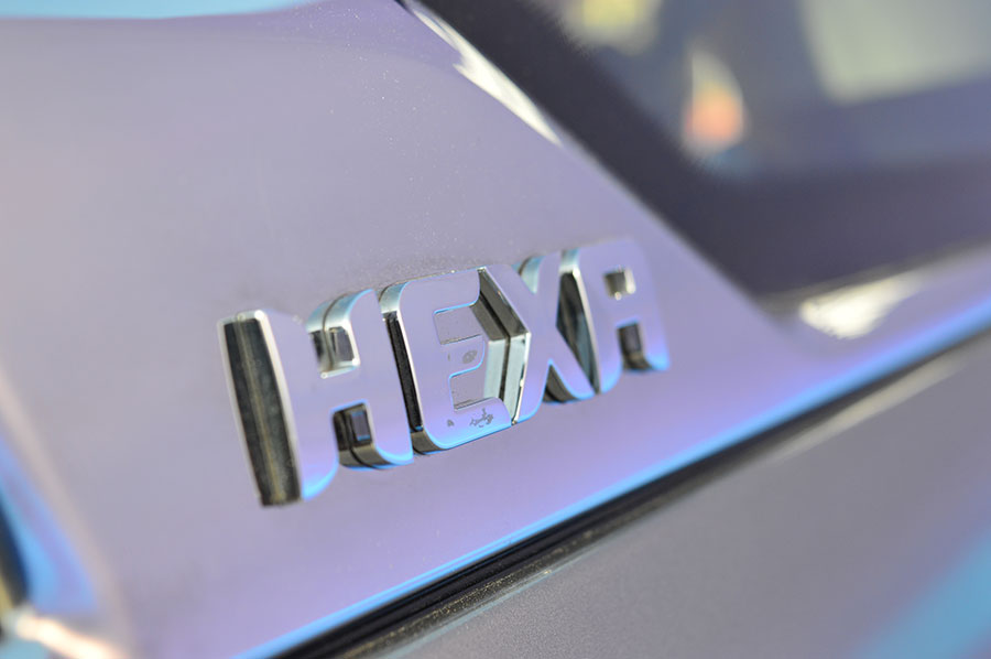 tata-hexa-logo-on-vehicle