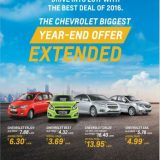 Chevrolet India extends the retail offers for 2017