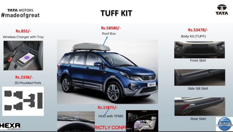Tata Hexa Tufff Customisation Kit