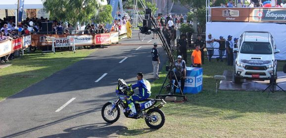 Dakar 2017 – Sherco TVS rider Aravind KP debuts on ceremonial start podium