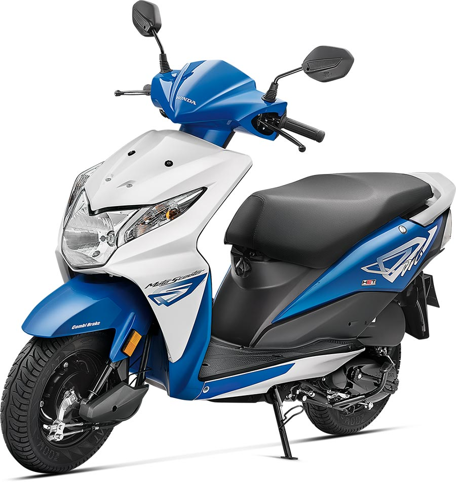 Honda Dio Blue Color - Candy Jazzy Blue Color