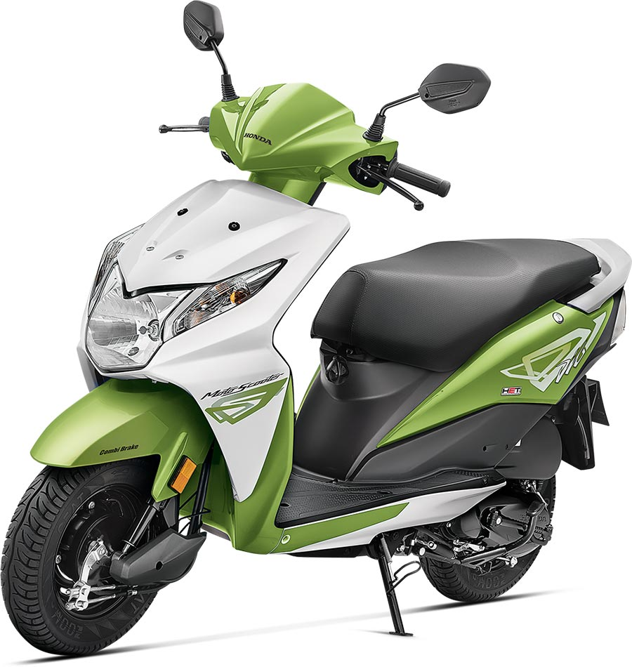 Honda Dio Green Color - Candy Palm Green Color