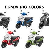 Honda Dio Colors: Red, Blue, Black, Grey, Green