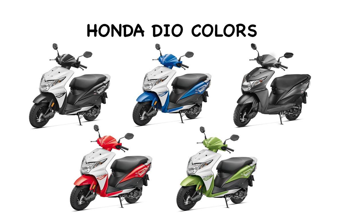 Honda Dio All Colors