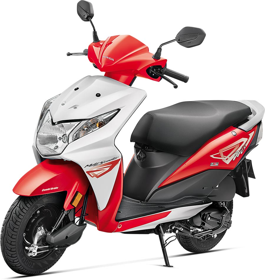 Honda Dio Red Color - Sports Red Color