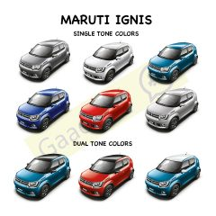 Maruti Ignis Colors: Blue, Red, White, Silver, Grey