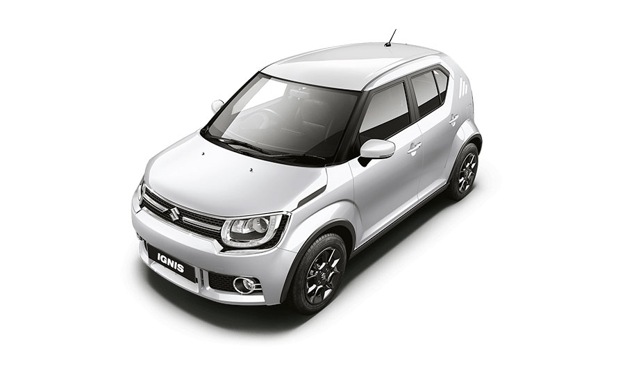 Maruti Ignis in Pearl Arctic White Color