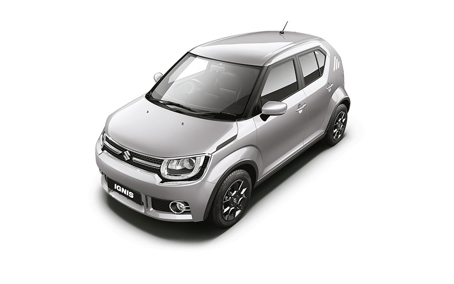 Maruti Ignis in Silky Silver Color