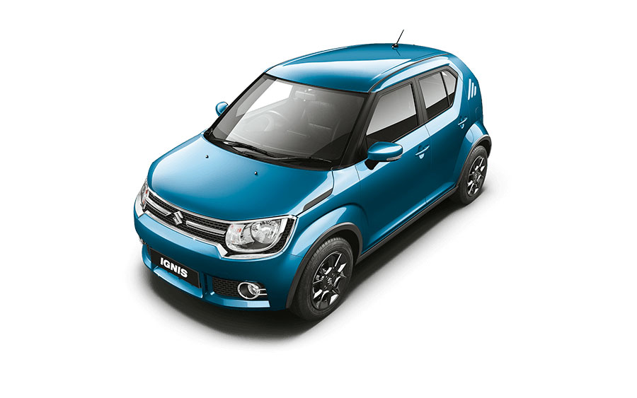 Maruti Ignis in Tinsel Blue Color