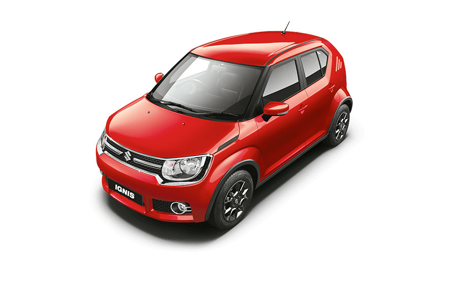Maruti Ignis in Uptown Red Color